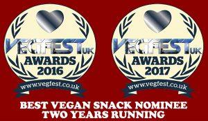 Best Vegan Snack Nominee 2 years running
